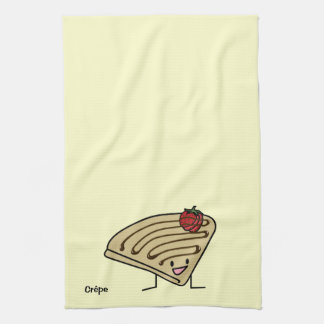 Crepe pasty Strawberry dessert chocolate French Tea Towel