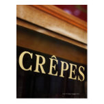 Crepes sign, Paris Post Cards