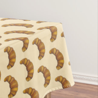 Crescent Buttery French Croissant Bread Pastry Tablecloth