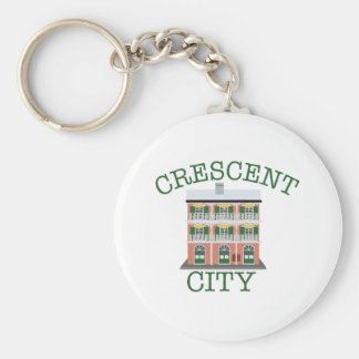 Crescent City Building Basic Round Button Key Ring