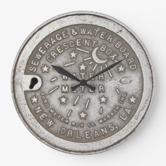 Crescent City Water Metre Cover Large Clock