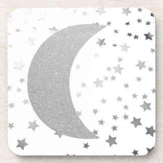 """Crescent Moon and Stars"" Cork Coaster"
