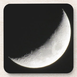 Crescent moon drink coasters