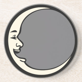 Crescent Moon Face Drink Coasters