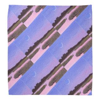 Crescent Moon & Heron Twilight Marsh Bandana