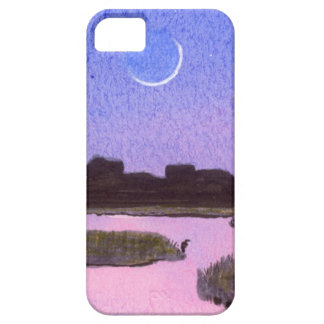 Crescent Moon & Heron Twilight Marsh Barely There iPhone 5 Case