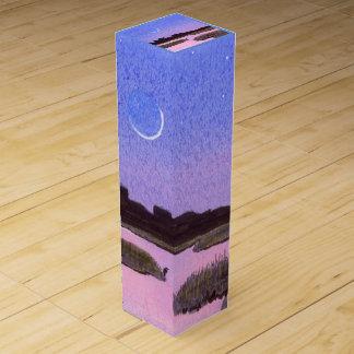 Crescent Moon Marsh & Heron Wine Box