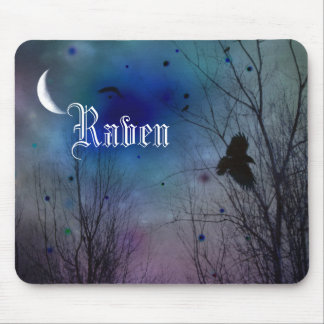 Crescent Moon Night Mouse Pad