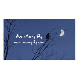Crescent Moon Night Sky Business Cards