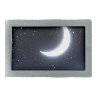 Crescent Moon over Starry Sky2 Belt Buckle