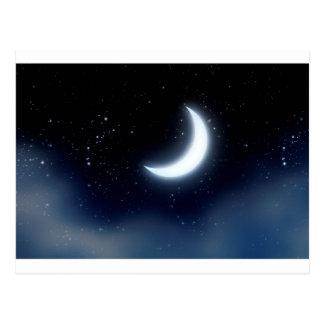 Crescent Moon over Starry Sky2 Postcard
