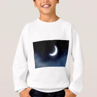 Crescent Moon over Starry Sky2 Sweatshirt