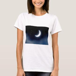 Crescent Moon over Starry Sky2 T-Shirt