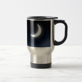 Crescent Moon over Starry Sky2 Travel Mug