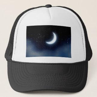 Crescent Moon over Starry Sky2 Trucker Hat