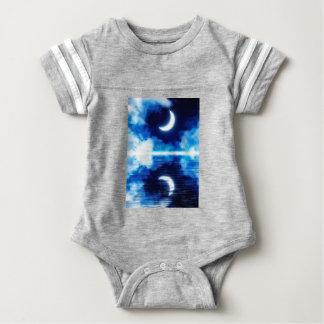 Crescent Moon over Starry Sky Baby Bodysuit