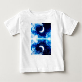 Crescent Moon over Starry Sky Baby T-Shirt
