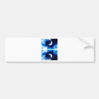 Crescent Moon over Starry Sky Bumper Sticker