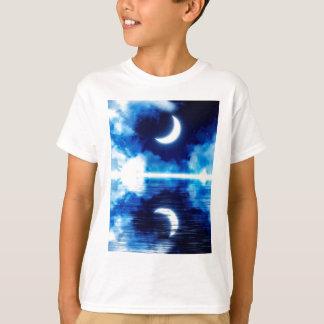 Crescent Moon over Starry Sky T-Shirt