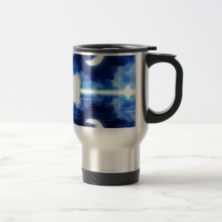 Crescent Moon over Starry Sky Travel Mug