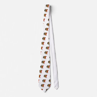 Crescent moon shaped graphic tie