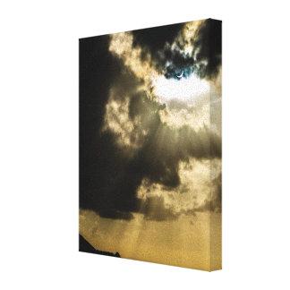 Crescent Sun during Solar Eclipse Canvas Print