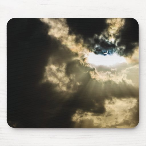 Crescent Sun during Solar Eclipse Mouse Pad