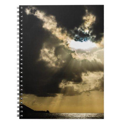 Crescent Sun during Solar Eclipse Spiral Note Books