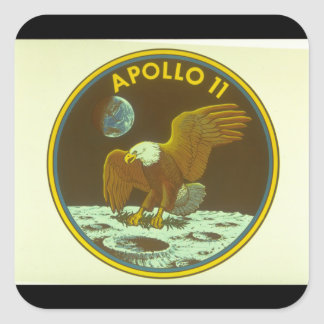 Crest for Apollo Mission_Space Square Sticker