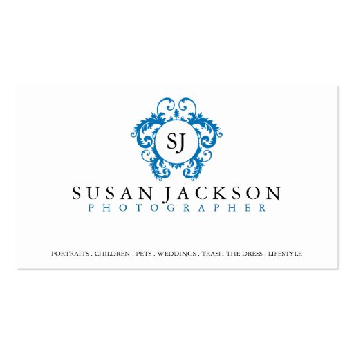 Crest Logo Photographers Business Card
