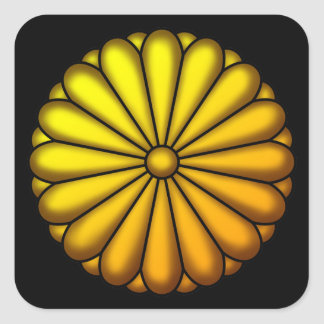 Crest of chrysanthemum square sticker