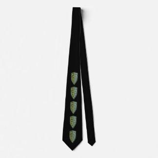 Crest Of Grass Shield Tie In Black