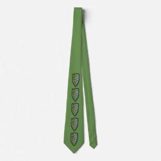 Crest Of Grass Shield Tie In Green