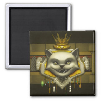 Crest Of Greed Square Magnet