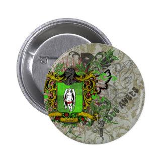 Crest & Pattern 6 Cm Round Badge