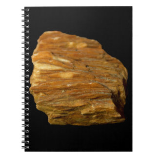 Crested Barite Photo on Black Background Notebook