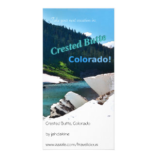 Crested Butte, Colorado Vintage Style Photo Card Template