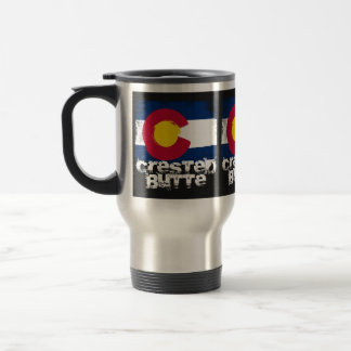 Crested Butte Grunge Flag Travel Mug
