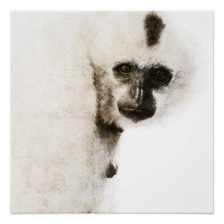 Crested Gibbon #1 Poster