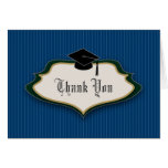 Crested Graduation Thank You: Navy Blue Cards