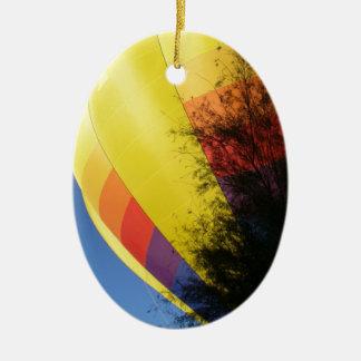 Crested Yellow Ceramic Ornament