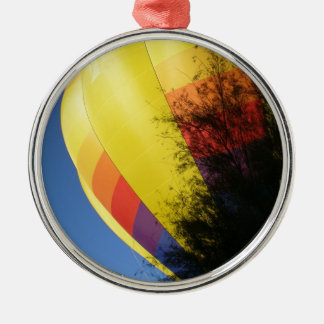 Crested Yellow Metal Ornament