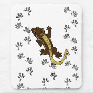 crestie footprints (mousepad) mouse pad