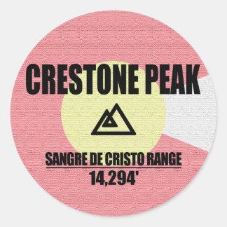 Crestone Peak Classic Round Sticker