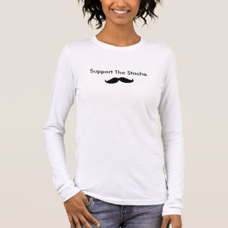 Crestwood Candids Her Support the Stache Long Sleeve T-Shirt