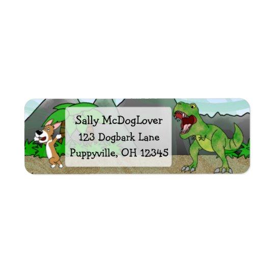 Cretaceous Corgi Return Address Label