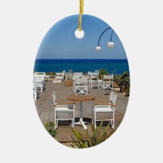 Crete 4 ceramic oval decoration