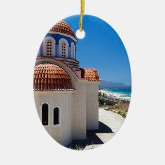 Crete 6 ceramic oval decoration