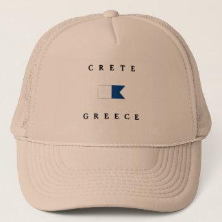 Crete Greece Alpha Dive Flag Trucker Hat