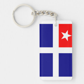 crete region flag greece symbol key ring